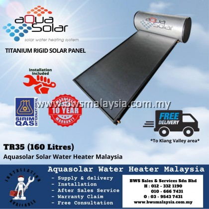 Aquasolar TR35 (160 liters)Titanium Model  Solar Water Heater Malaysia