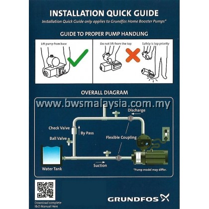 Grundfos UNI-E CM3-5 (Grundfos CMBE 3-62) Variable Speed Water Booster Pump