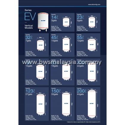 Elton EWH32 (EV-32) Storage Water Heater Malaysia - Vertical Model