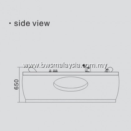Eurano ERN11305 Corner Massage Bathtub Malaysia