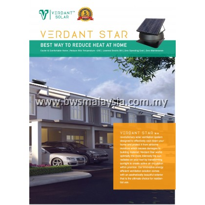 Verdant Star VS1350 Solar Ventilation System Malaysia