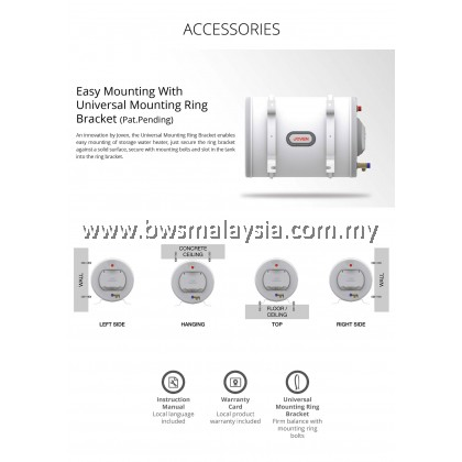 Joven Storage Water Heater JH15IB *DISCONTINUED*