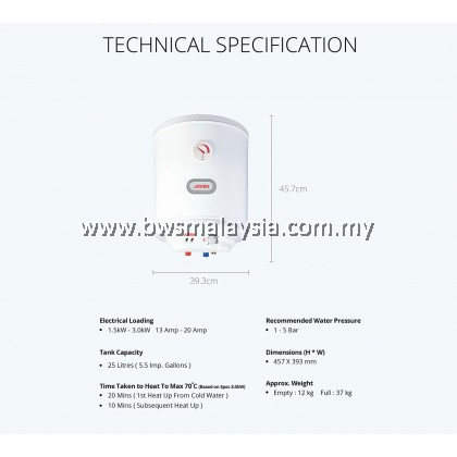 Joven Storage Water Heater JVA25IB *DISCONTINUED*