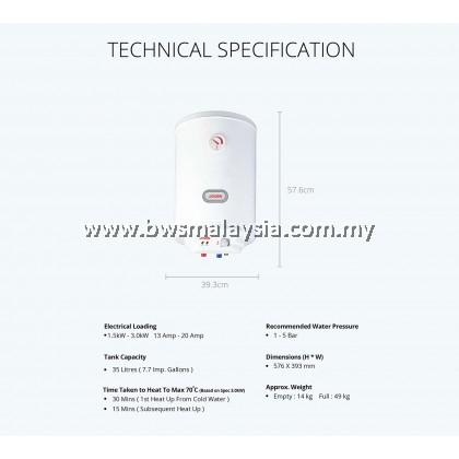 Joven Storage Water Heater JVA35IB *DISCONTINUED*