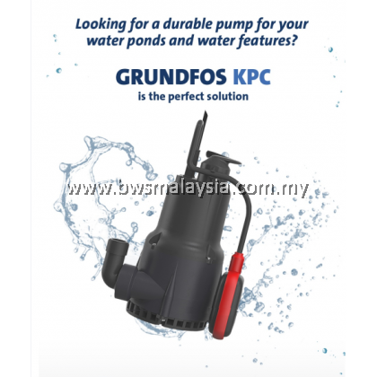 Grundfos KPC300A Automatic Submersible Pumps for Fish Pond, Waterfall and Fountain Pump