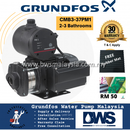 Summer CX300 + Grundfos CMB3-37PM1 Water Pump (Summer With Installation, Grundfos Pump Supply ONLY) Purchase with purchase Waterco/ puregen Outdoor Filter with promotion price