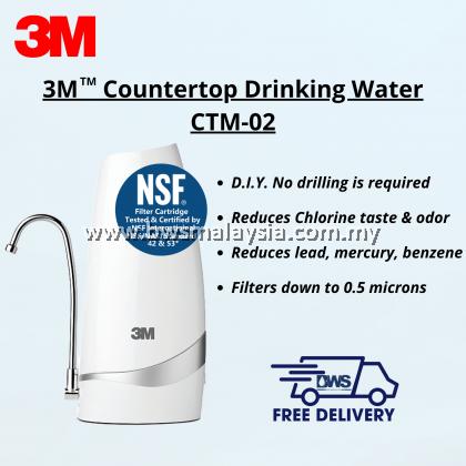 3M CTM-02 Countertop Indoor Water Filter with EXTRA Replacement Cartridge